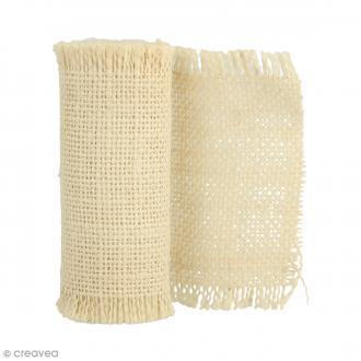 Ruban de tissu en toile de lin - Crème - 10 cm x 1 m