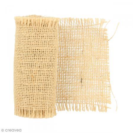 ruban de tissu en toile de lin naturel 1 m 4 pcs bande de jute creavea. Black Bedroom Furniture Sets. Home Design Ideas