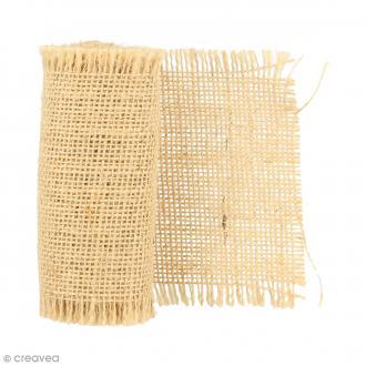 Ruban de tissu en toile de jute - Naturel - 10 cm x 1 m