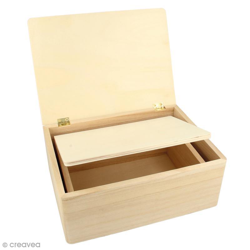 Boîtes gigognes en bois - Rectangulaire - 22 x 16 x 9 cm - Par 2 - Photo n°1