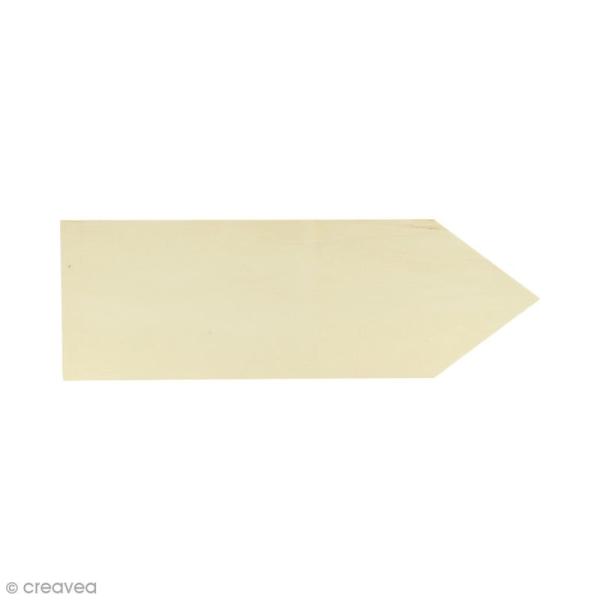Plaque en bois à décorer - Flèche - 30 x 10 cm - Photo n°1