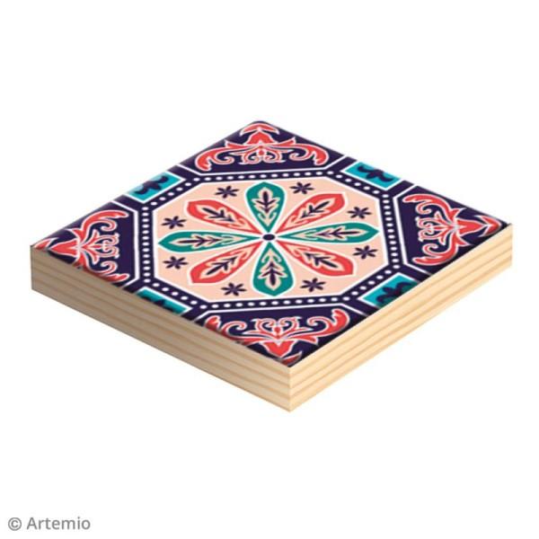 Plaque carrée en bois à décorer - 15 x 15 x 1,2 cm - 2 pcs - Photo n°2