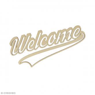 Mot en bois - Welcome - 41 x 18 cm