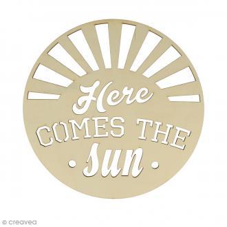 Mots en bois - Here comes the sun - 30 cm
