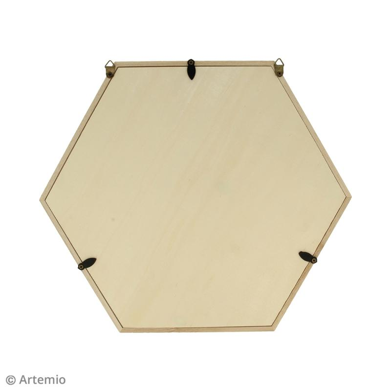 Cadre Hexagonal en bois - 30 x 26 cm - Photo n°2