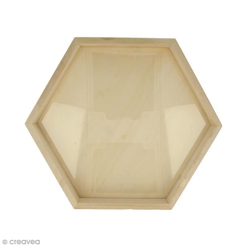 cadre hexagonal en bois 30 x 26 cm cadre photo d corer creavea. Black Bedroom Furniture Sets. Home Design Ideas