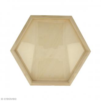 Cadre Hexagonal en bois - 30 x 26 cm
