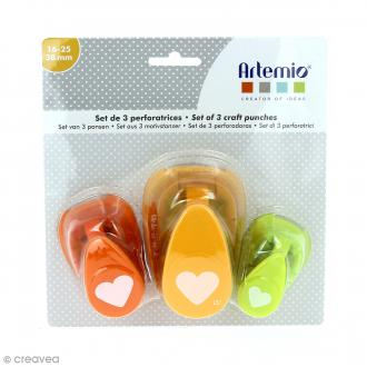 Lot de perforatrices - Coeur - 3 pcs