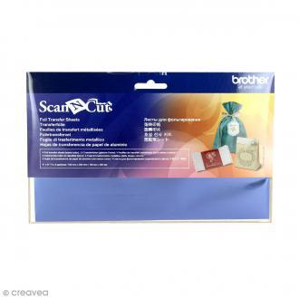 Feuilles métallisées bleues pour transfert Scanncut - 10 x 20 cm - 4 pcs