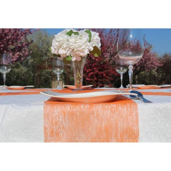 Chemin de table intissé Orange, largeur 23 cm, longueur 10 m, décoration de table non tissé - Photo n°2