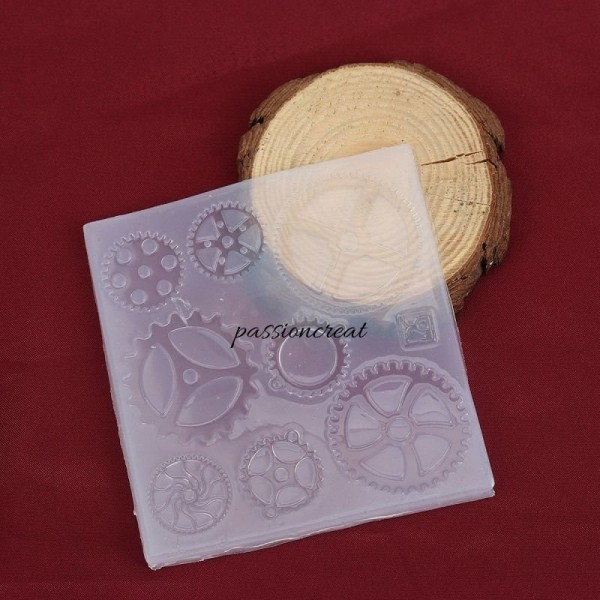Un Moule Silicone Rectangle Steampunk 105x100mm - Photo n°1