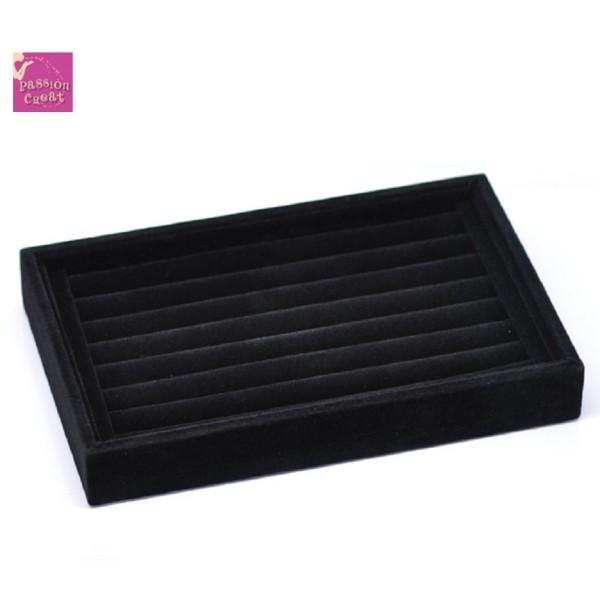 Un Présentoir Bague Velour Noir 225x145mm - Photo n°1