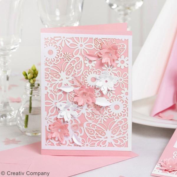 Papier cartonné 200 g avec motif dentelle - 10,5 x 15 cm - Lots de 10 feuilles - Photo n°5
