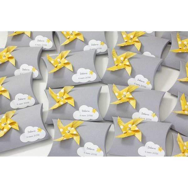 Lot de 6 Feuilles de Papier scrapbooking Structuré effet Lin, Gris, dim. 30,5 x 30,5 cm, 240g/m² - Photo n°2