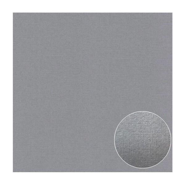 Lot de 6 Feuilles de Papier scrapbooking Structuré effet Lin, Gris, dim. 30,5 x 30,5 cm, 240g/m² - Photo n°1