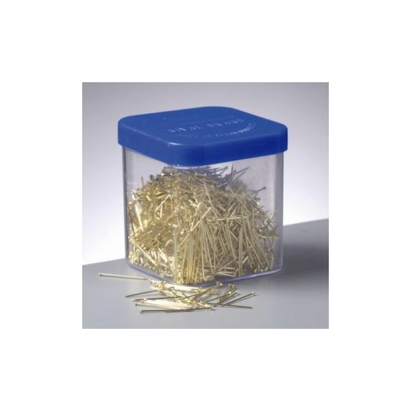 Epingles laiton doré, 18 mm pour paillettes, boite de 50 gr - Photo n°1