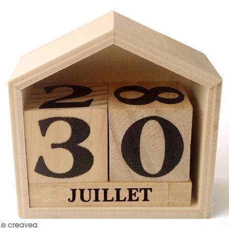 calendrier perp tuel maison en bois 7 3 x 7 8 cm calendrier perp tuel creavea. Black Bedroom Furniture Sets. Home Design Ideas