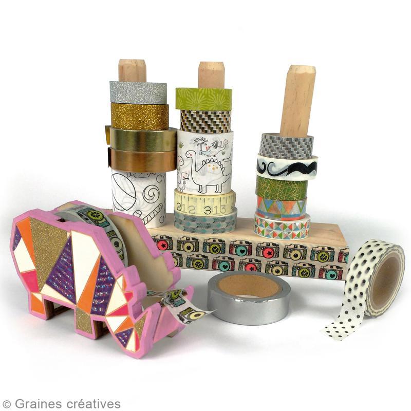 Porte masking tape - 3 tiges de 12 cm - Photo n°2