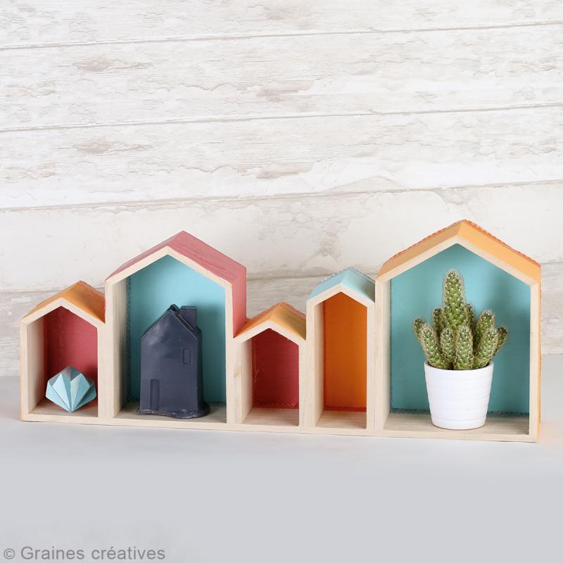Blocs de maisons en bois à décorer - 50,3 cm - Photo n°2