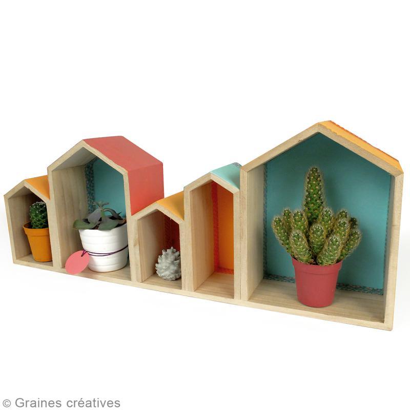 Blocs de maisons en bois à décorer - 50,3 cm - Photo n°3