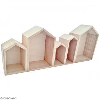 Blocs de maisons en bois à décorer - 50,3 cm