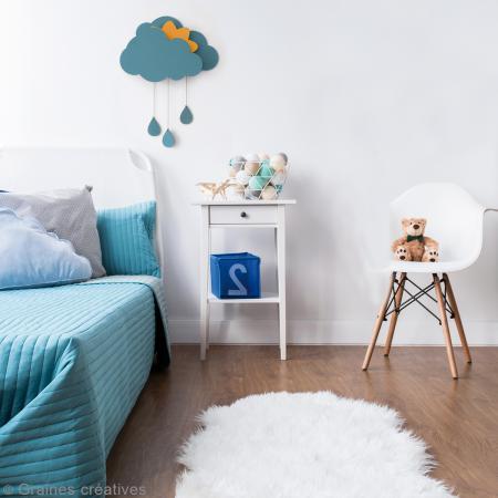 kit nuage d corer avec bo te musique 39 x 50 cm. Black Bedroom Furniture Sets. Home Design Ideas