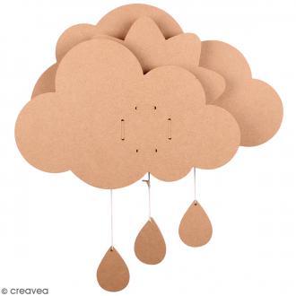 Kit nuage à décorer avec boîte à musique - 39 x 50 cm