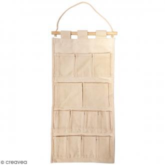 Vide poche en tissu à décorer - 29,5 x 62 cm
