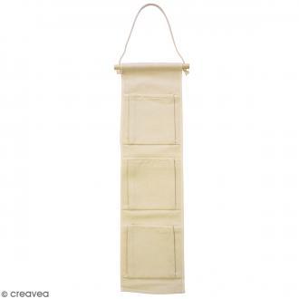 Vide poche en tissu à décorer - 17 x 64 cm
