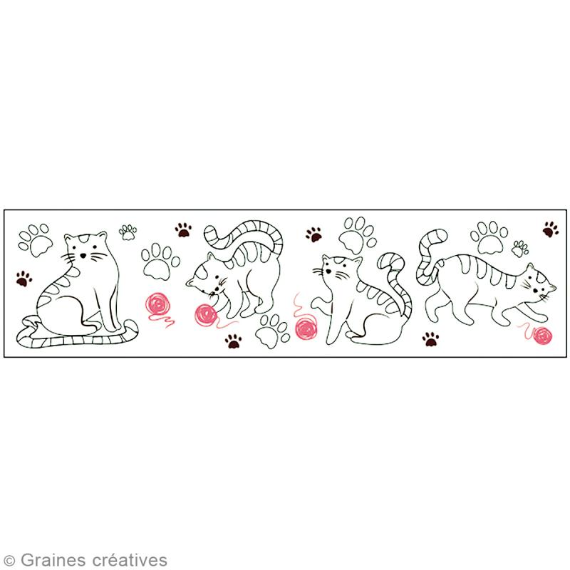 Masking Tape à colorier XL - Chats - 4,6 cm x 5 mètres - Photo n°2