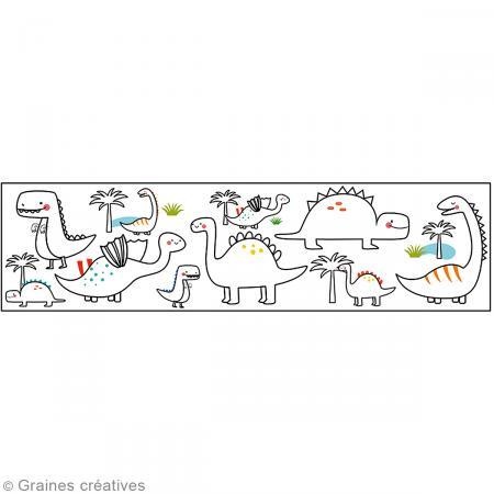 Masking Tape à colorier XL - Dinosaures - 4,6 cm x 5 mètres - Photo n°2