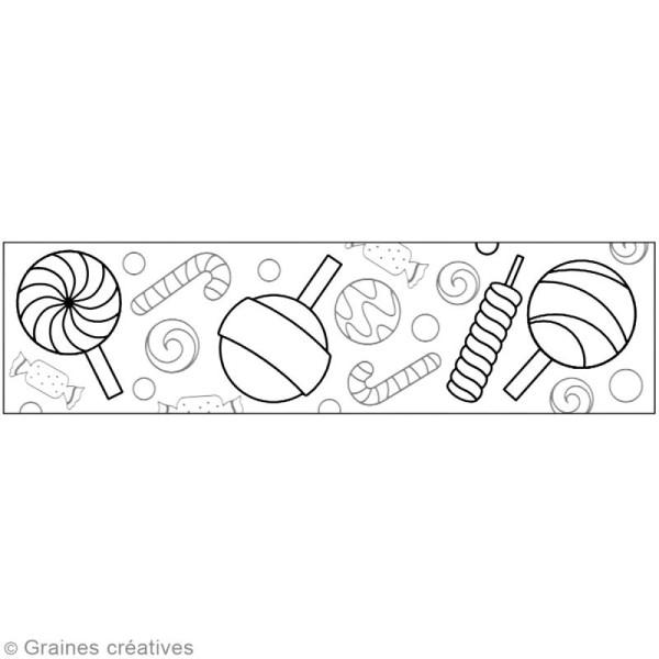 Masking Tape à colorier XL - Sucreries - 4,6 cm x 5 mètres - Photo n°2