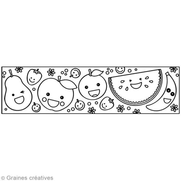 Masking Tape à colorier XL - Fruits - 4,6 cm x 5 mètres - Photo n°2