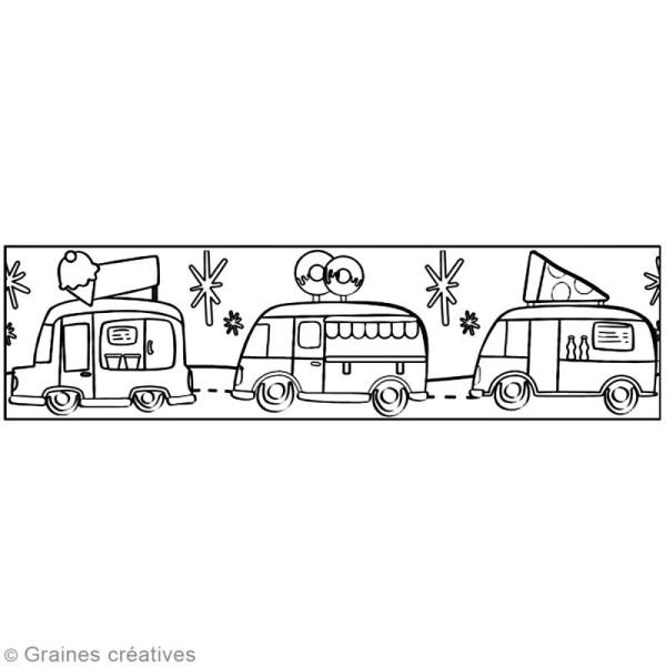 Masking Tape à colorier XL - Camions gourmands - 4,6 cm x 5 mètres - Photo n°2