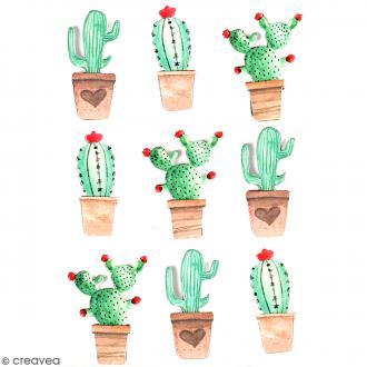 Stickers 3D Cactus mexicain - 9 autocollants