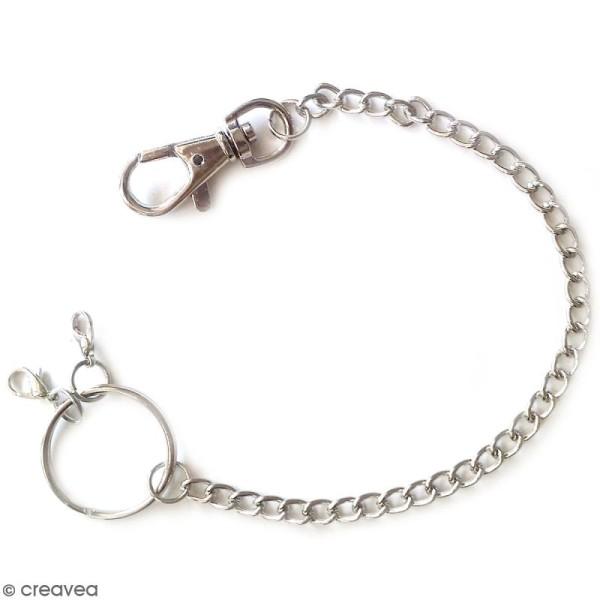 Porte clé mousqueton avec chaîne - 28 cm - Photo n°1