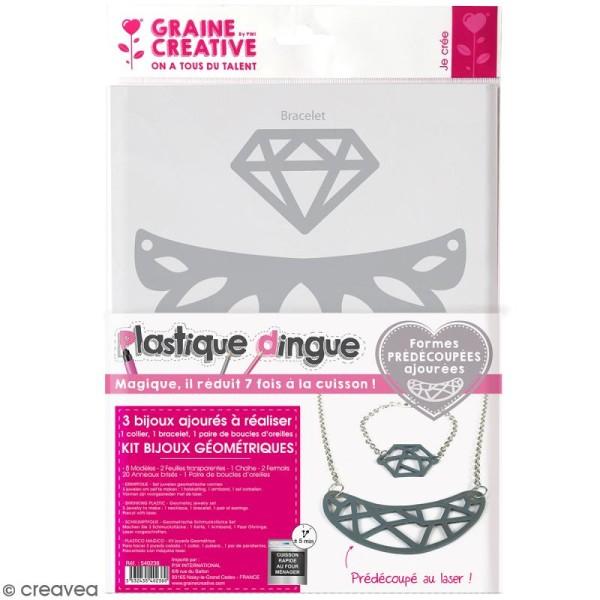 Kit plastique dingue - Bijoux ajourés - Géométriques - Photo n°1