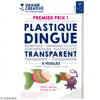 Plastique dingue transparent - 26,2 x 20,2 cm - 5 pcs