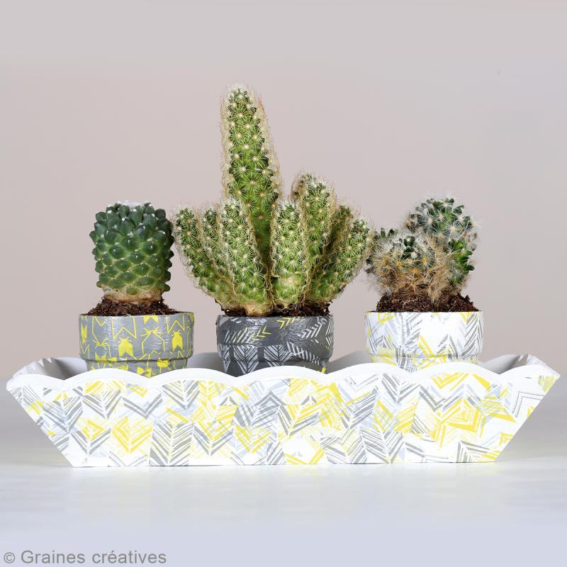 Set de 3 feuilles de papier à encoller - 30 x 40 cm - Flèches - Photo n°2