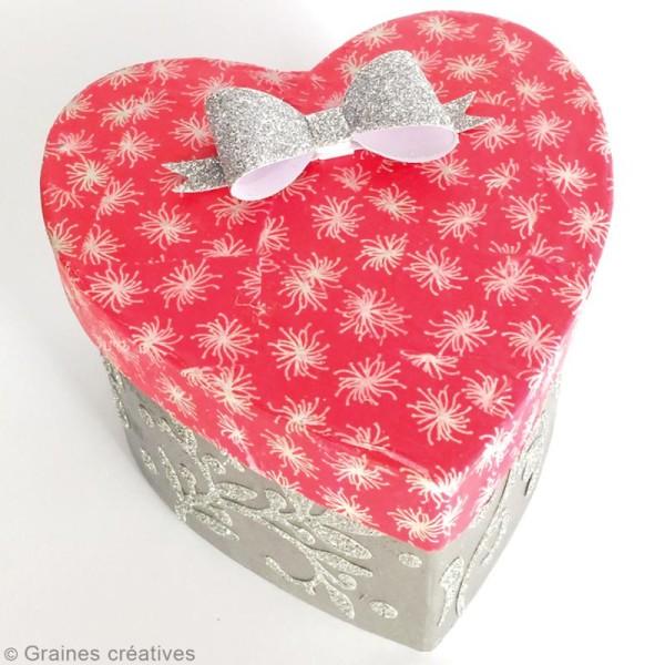 Boîte Coeur à décorer - 9 x 8 x 5 cm - Photo n°2