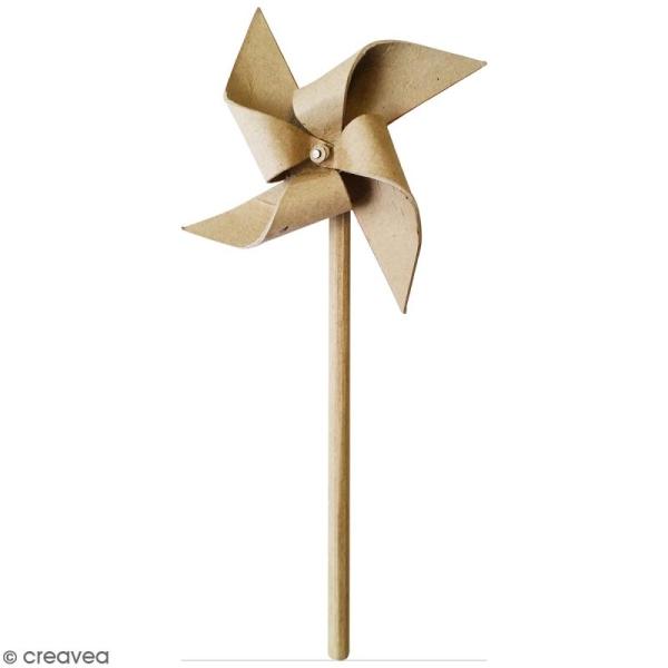 Moulin à vent à décorer - 12,5 x 21,5 x 3 cm - Photo n°1