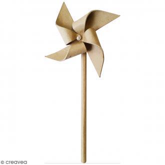 Moulin à vent à décorer - 12,5 x 21,5 x 3 cm