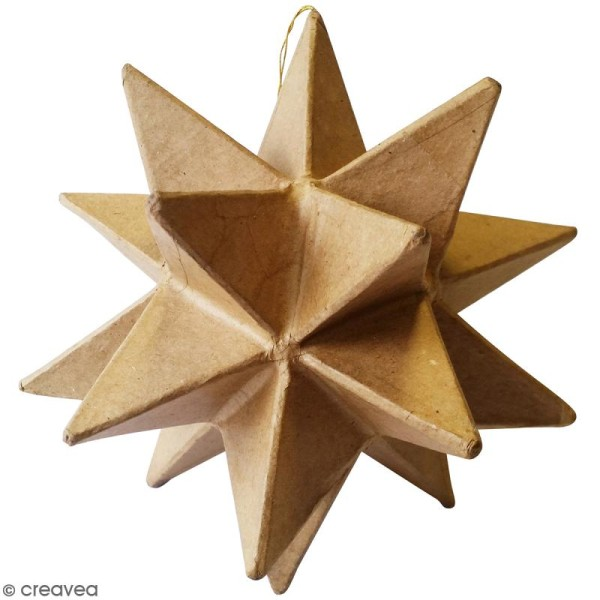Suspension étoile origami à décorer - Carton - 15 x 15 x 15 cm - Photo n°1