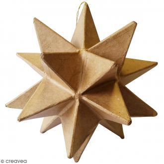 Suspension étoile origami à décorer - Carton - 15 x 15 x 15 cm