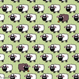 Serviette à l'unité - Moutons
