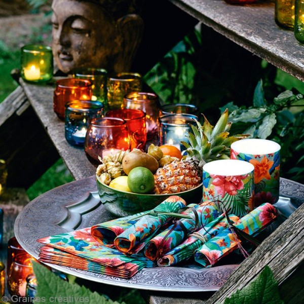 Serviette à l'unité - Paradis tropical - Photo n°2