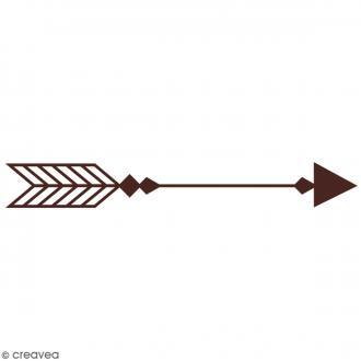 Tampon en bois - Flèche - 7,2 x 3,2 cm