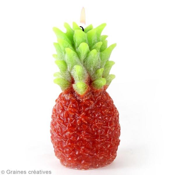 Moule latex spécial bougie - Ananas - 11 x 5 cm - Photo n°2