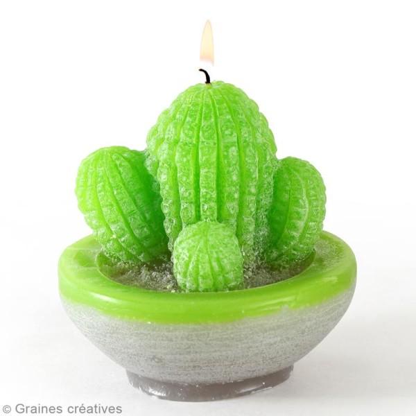 Moule latex spécial bougie - Cactus - 7,5 x 9 cm - Photo n°2