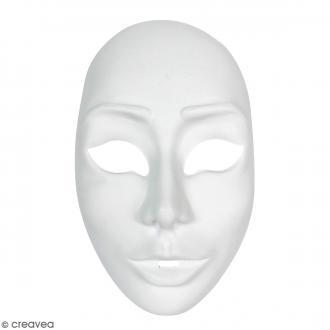 Masque fin à décorer - Femme Venise - 13 x 22 cm